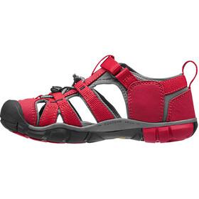 Keen Seacamp II CNX Chaussures Enfant, racing red/gargoyle